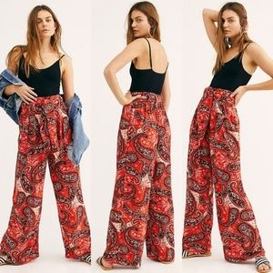 Free People Printed Double Trouble Pants
